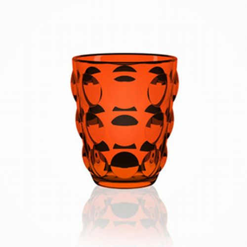 Bubble Glass Tumbler - Orange